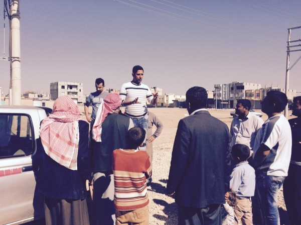 Nihad, Sharing the Gosple with a Group of Refugee Men